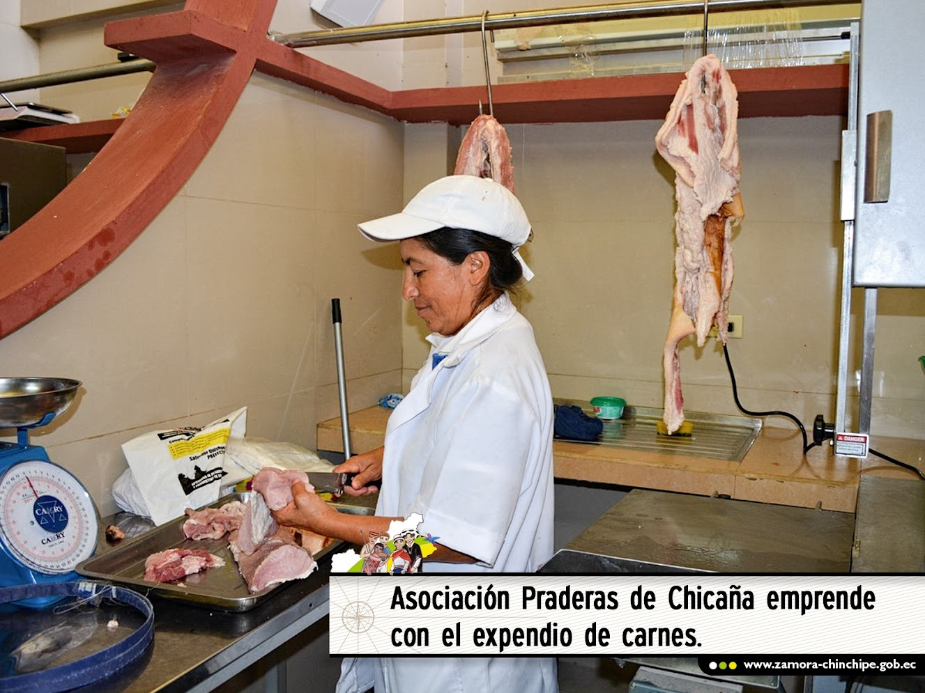 ASOCIACIÓN PRADERAS DE CHICAÑA EMPRENDE CON EL EXPENDIO DE CARNES.