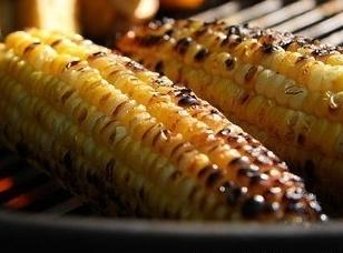 Spray corn with butter spray, sprinkle with cumin and s&p. Grill a few minutes on...