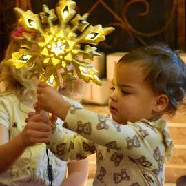 Star by Mindi Baum-sherlin - Babies & Children Toddlers ( playing, two, girl, christmas, star, fun, toddler )