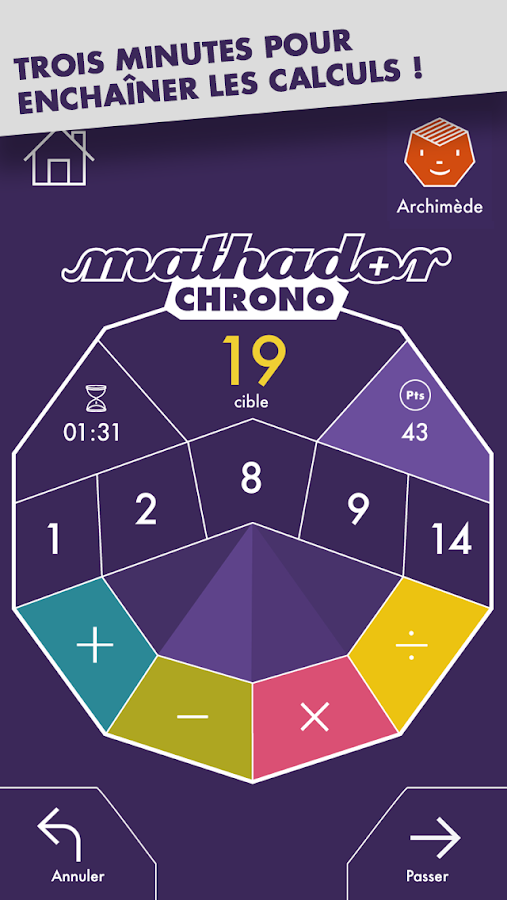 Mathador Chrono- screenshot
