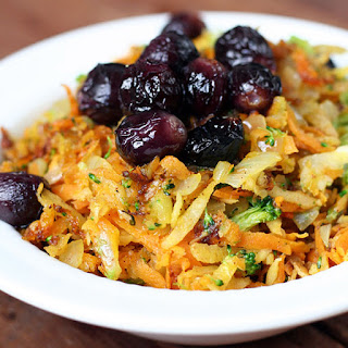 Sweet Grated Veggie Breakfast Hash with Raisins