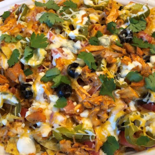 Kickin' Buffalo Chicken Nachos.