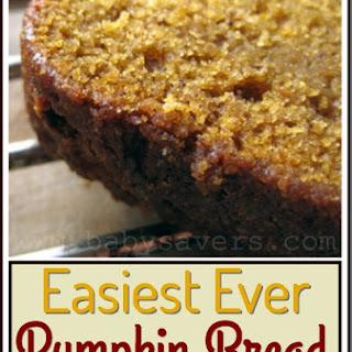 Easy Pumpkin Bread.