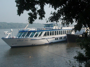 Photo: Our noble ship - the River Ship MS Aria. It was impossible to get a shot of the entire ship.