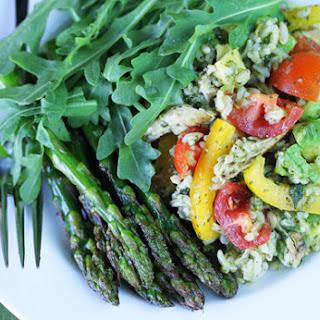 Exquisite Salad ~ Rice, Chicken, Asparagus, Avocado