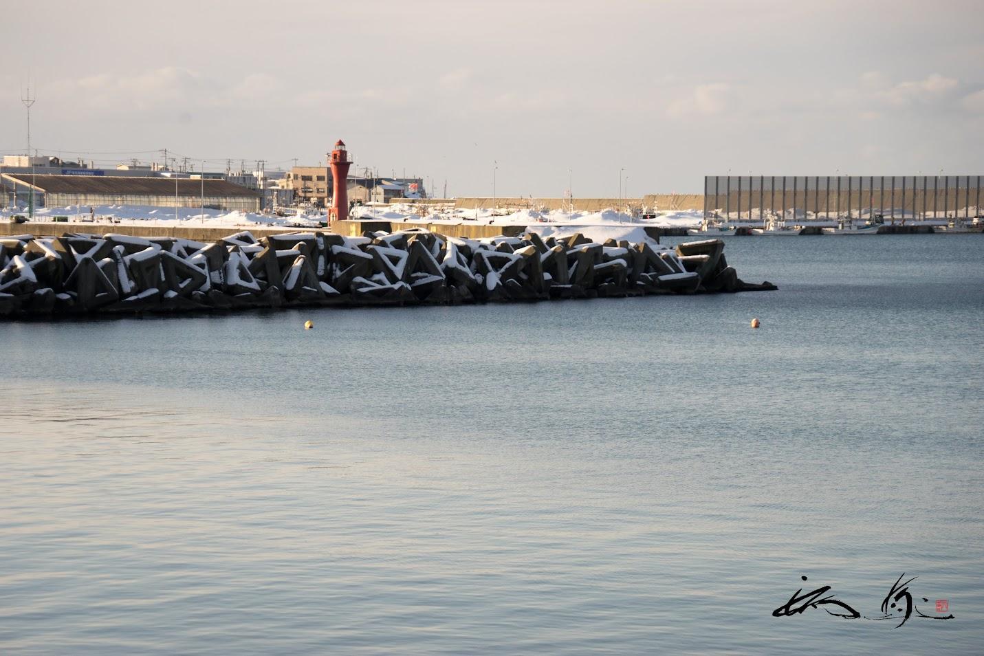 増毛港の灯台