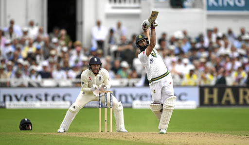 KING OF DANCE:  Hashim Amla dances down the wicket to hit Liam Dawson for four runs during day three of the  second Test  between England and South Africa, at Trent Bridge, Nottingham,  yesterday. The wicketkeeper is Jonathan Bairstow Picture: GETTY IMAGES
