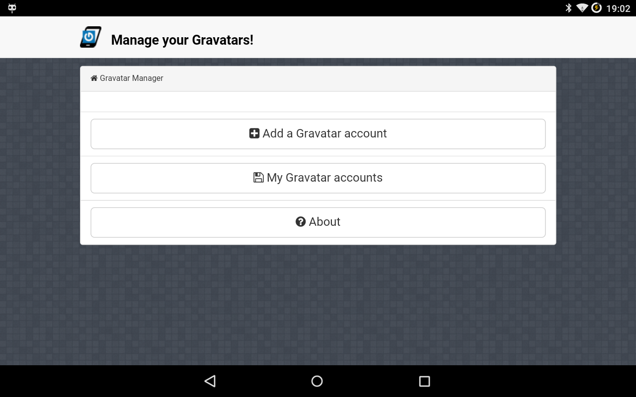 Gravatar Manager- screenshot