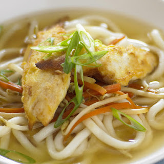 Chicken and Udon Noodle Soup.