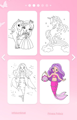 Girls Coloring Book - Color by Number for Girls 2.1.0 8
