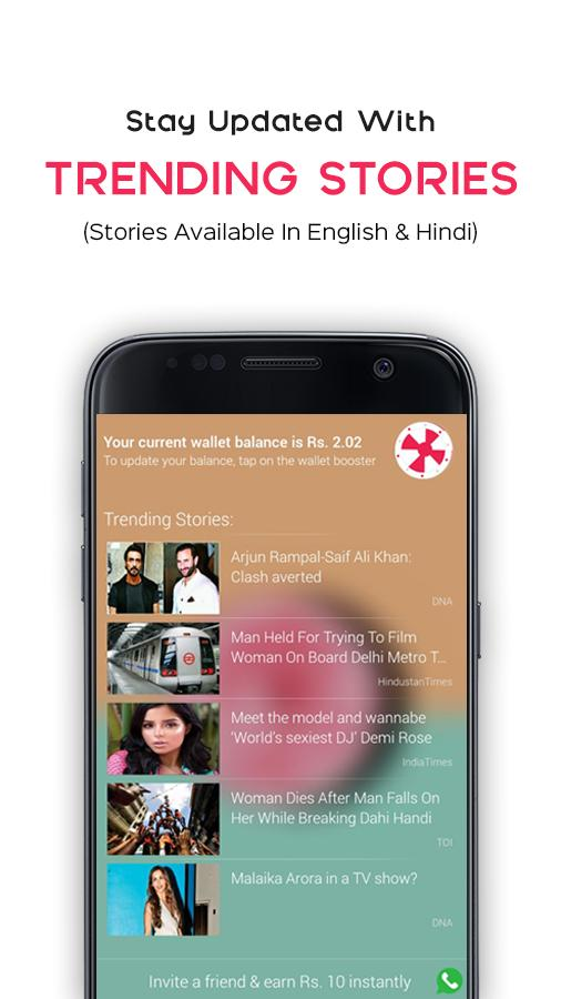 Flikk: Live News Tickr On LockScreen & Wallpapers- screenshot