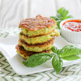 Grain & Gluten-Free Zucchini Fritters, Paleo Friendly.
