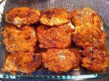 Crunchy Honey Garlic Pork Chops OR Chicken Thighs