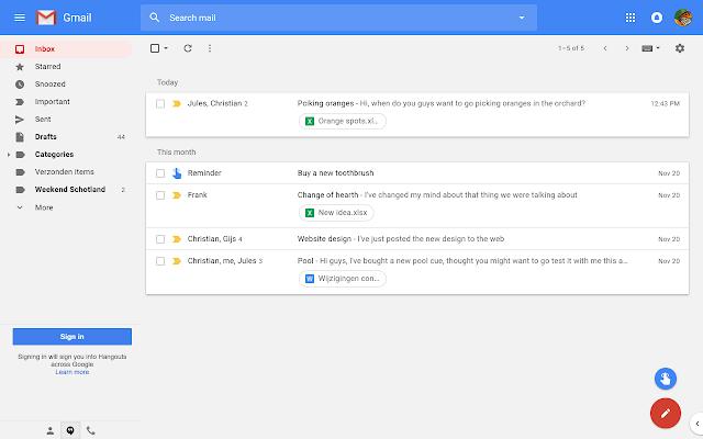 Retrouvez un air de Inbox dans GMail