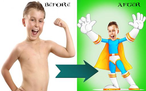 Cartoon face collage