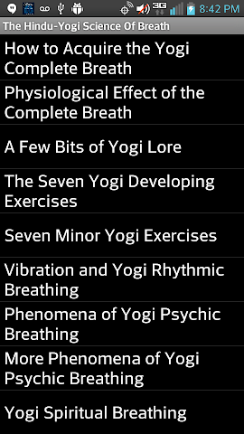 android Hindu-Yogi Science Of Breath Screenshot 2
