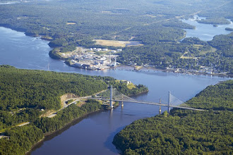 Photo: Verso Mill and Penobscot Bay Bridge