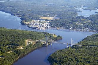 Photo: Verso Mill and Penobscot Bay Bridge