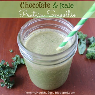 Chocolate & Kale Protein Smoothie.