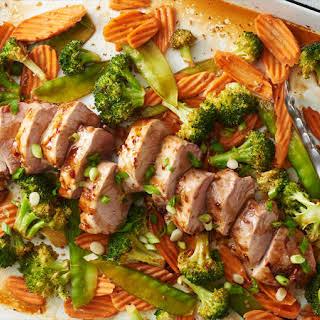 Sheet-Pan Teriyaki Pork and Vegetables.