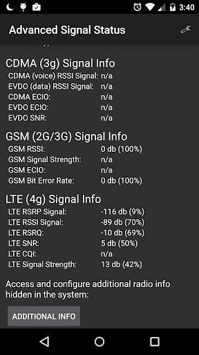 Advanced Signal Status 1.5.7 screenshots 1