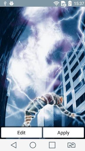 Lightning man live wallpaper