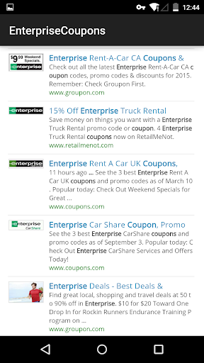 Coupons for Enterprise