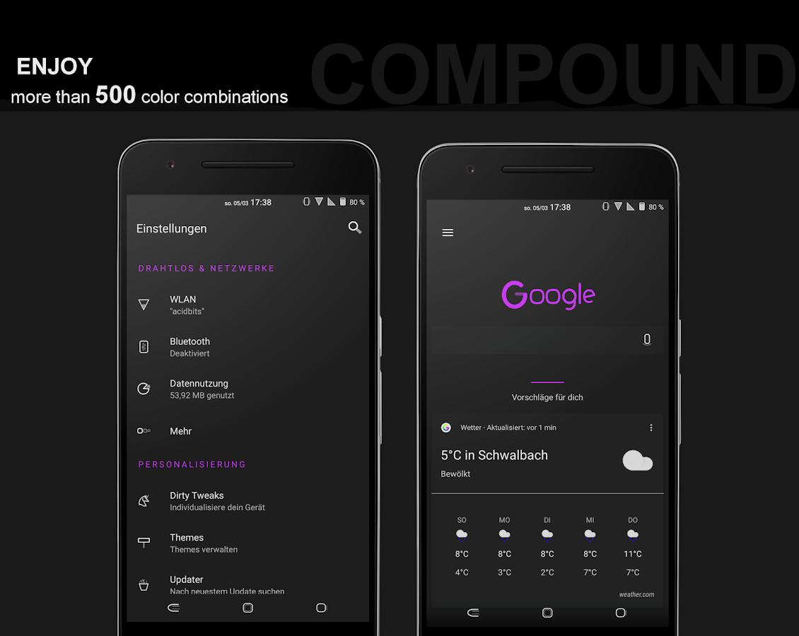 Compound for Substratum (Android Oreo/Nougat) – скриншот