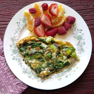 Spinach Frittata with Mushrooms and Leeks Recipe