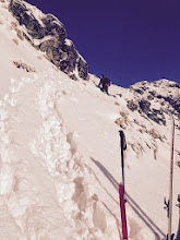 Photo: Leaving skis, starting to climb