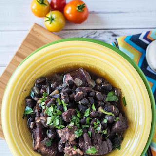 Pressure Cooker Feijoada – Brazilian Black Bean and Meat Stew.