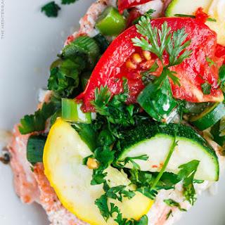 Mediterranean-Style Garlic Salmon in Foil