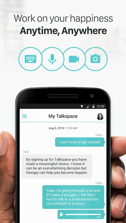 Talkspace Counseling & Therapy- screenshot