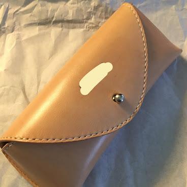眼鏡盒,意大利原色皮。