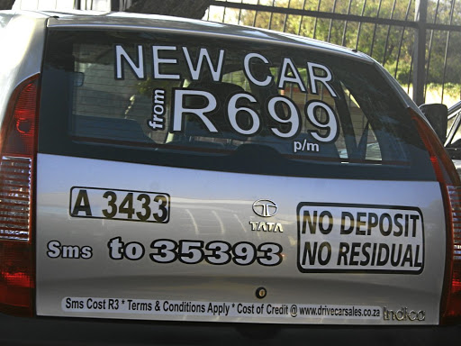 The 'Drive a new car for R699 a month' deal 'had all the elements of a Ponzi scheme'. Picture: Sibusiso Msibi