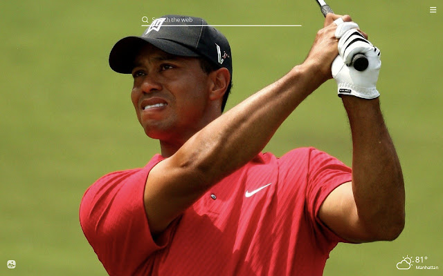 Tiger Woods HD Wallpapers New Tab Theme