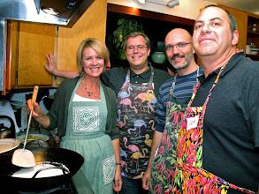 Photo: the coconut noodles team: Kelli, Jason, Giorgio and Josh