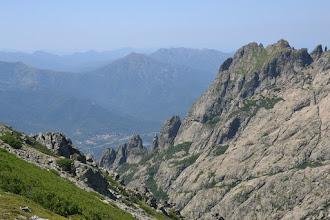 Photo: dolina rieky la Gravona, aj s mestečkom Bocognano