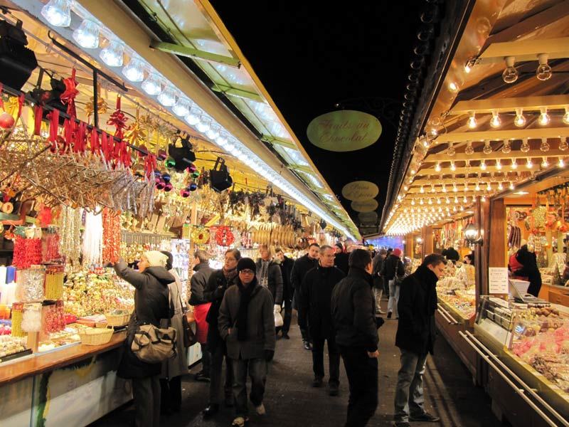 The Christmas market in Strasbourg, France.
