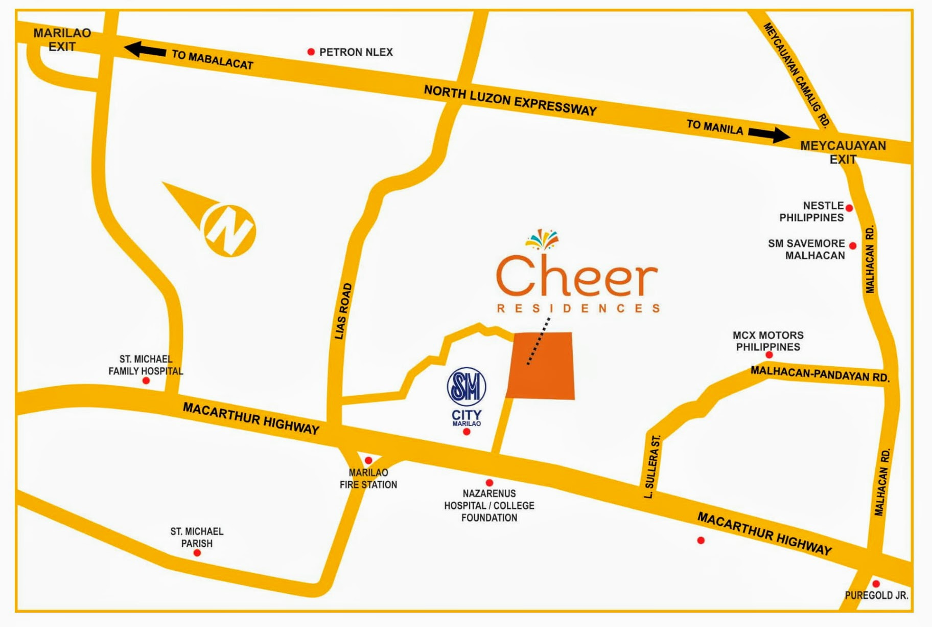 Cheer Residences Marilao, Bulacan location map