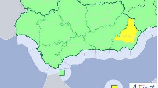 Mapa de Andalucía para este lunes.