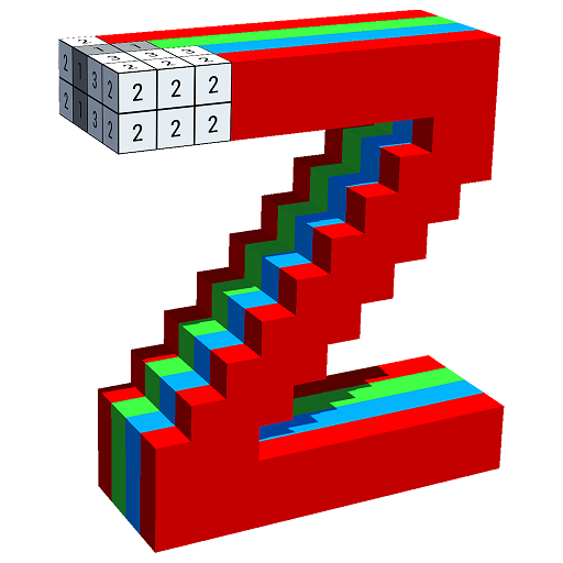 Alphabets 3D Color by Number - Voxel Coloring Icon