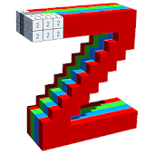 Alphabets 3D Color by Number - Voxel Coloring