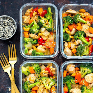 Cashew Chicken Meal Prep Bowls.