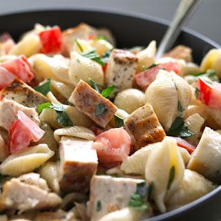 Grilled Chicken Ranch Pasta Salad.