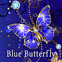 Beautiful Wallpaper Blue Butterfly Theme icon