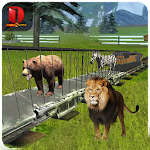 Zoo Animals : Transport Train Icon