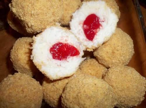 """Coconut Cherry Balls """"Made these last night. My husband couldn't eat enough..."""
