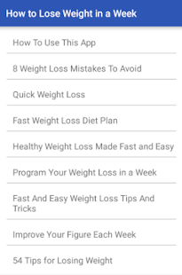 How to Lose Weight in a Week- screenshot thumbnail