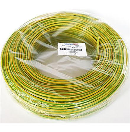 Isolerslang 8mm Gul/Grön PVC